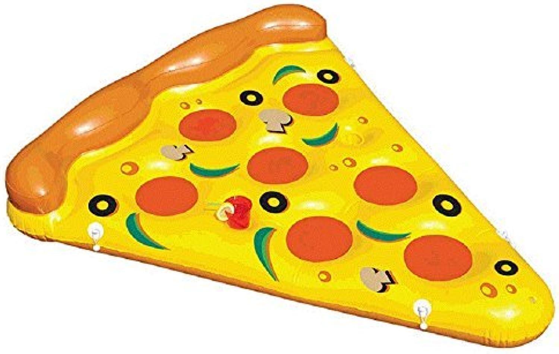 HAUTE FLOAT Yummy Pepperoni Mushroom Olives Giant Pizza Slice Inflatable Pool Tube by Haute Float