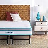 Linenspa 12 Inch Gel Memory Foam Hybrid Mattress with Linenspa 14 Inch Folding Platform Bed Frame - Queen