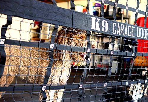 K9 Garage Door Kennel Net, Large & Small Dog Kennel with Access Door, Black