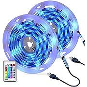 LED Strip Lights,OMERIL 6M/19.7ft 180LED RGB USB Colour Changing Led Light Strip with 24-Keys Remote Control,16 Multi Color&4 Lighting Modes,IP67 Waterproof Strip Lights for Bedroom Home Kitchen