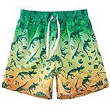 Cutemile Pantaloncini da Spiaggia per Bambini Vita Regolabile Ad Asciugatura Rapida Costume Bagno Ragazzi Traspirante E Leggero con Dinosauro