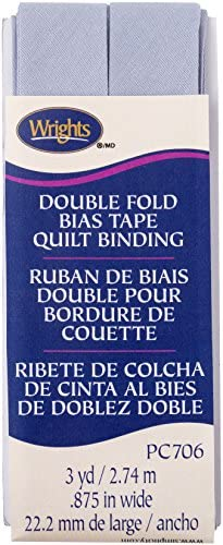 Wrights Lilac Grey Double Fold Quilt Binding 7 8 X3yd product image