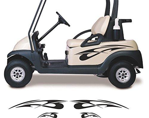 Tribal Flames Golf Cart Go Kart Decals Stickers Auto Truck Racing Graphics GC83