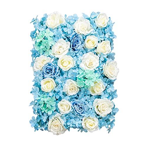 XEWNEGTZI 60x40cm Paneles De Flores Flores Artificiales Pantalla De Pared, Romántico Fondo Floral Cobertura Inicio Fiesta De Boda Fondo Fondo Decoración(Color: 18pcs)