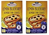 Nonni's THINaddictives Lemon blueberry Almond Thin Cookies NEW FLAVOR 6 packs per box 4.4 Ounce ( 2 Pack)