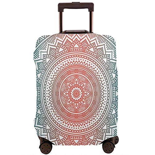 Travel Suitcase Protector Teal Ombre Mandala Antique Gypsy Cosmos Luggage Cover Protective Travel Trunk Case Elastic Suitcase Protector Fits 18-21 Inch Luggage