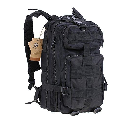 Koolertron sport esterno tattico militare dello zaino Molle Zaini campeggio Escursionismo Bag Borsa a tracolla Uomo Donna Outdoor Sport Camping Escursionismo sacchetto militare tattico (Nero)