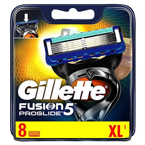 Gillette Fusion 5 ProGlide Power Rasierklingen mit Trimmerklinge für Präzision und Gleitbeschichtung, 8 Ersatzklingen