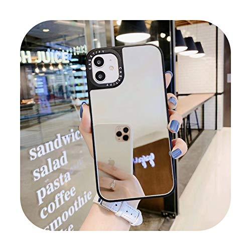 Ins - Carcasa de espejo para iPhone 12, 11, Pro, 11Pro, Max, 8, 7 Plus, X, XS, Max, XR, SE2, vista completa, a prueba de golpes, funda Coque-3 para iPhone 7