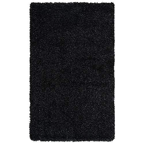 Safavieh California Premium Shag Collection SG151-9090 Area Rug, 3' x 5', Black