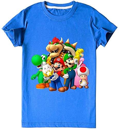 AMCYT Super Mario - Camiseta, camiseta y pantalón (2 juegos), diseño de Super Mario 1,170