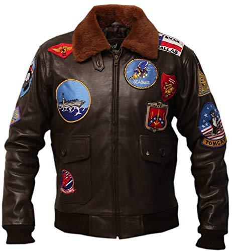 Top Gun G1 Bomber Tom Cruise Pete Maverick Cowhide Leather Jacket (XL)