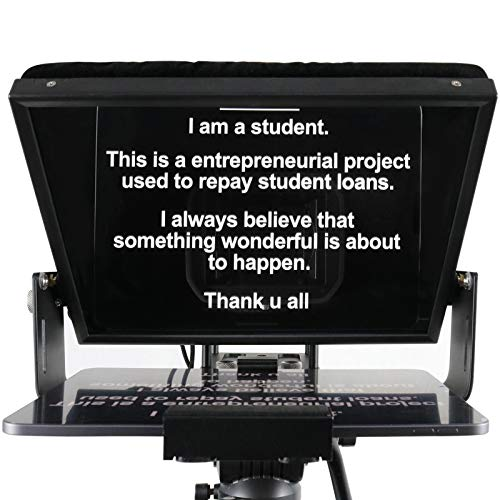12 inches Teleprompters for Tablets, Making Video Programs, Live Streaming, Professional Tool to Prompt The Blogger