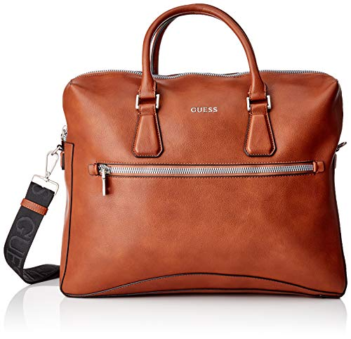 Guess Scala Briefcase, Bags Uomo, Brown, One Size