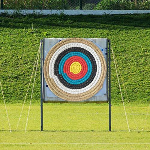 Daybreak Bogenschießen Ziel 50x50 cm Traditionelles Handgemachtes Festes Stroh Rundes Zielscheibe Für Im Freienpraxis Bogenschießen-Bogen Und Schießenpfeil