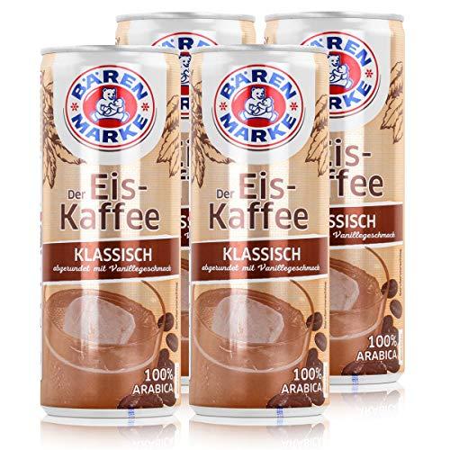 Bärenmarke Eiskaffee 0,25 Liter Dose - 1,8% Fett im Milchanteil - 100% Arabica (4er Pack)