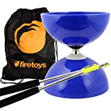 Juggle Dream Blue Big Top - Jumbo Bearing Diabolos Set, Ali Dream Metal Diablo Sticks, Diabolo String & Bag
