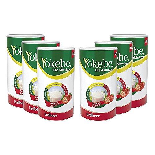 6 x Yokebe Aktivkost Erdbeer Pulver (6x500g)
