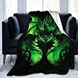 WEQDUJG Fairy Tales Maleficent Blanket Throws Bed Queen Size Ultra Soft Micro Fleece Warm Fluffy Couch Living Room Luxury Blankets 50 x 40 in