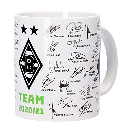 Borussia Mönchengladbach Tasse, Becher Team mit Unterschriften 2020/2021, 204187