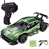 子供用リモートコントロール車10-15 km/h高速オフロードレーシングカーRCレースカー子供用RCトラックキッズプレゼント,グリーン