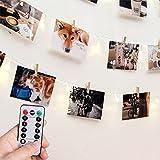 [Fernbedienung & Schaltuhr] RECESKY Foto Clip Lichterketten - 40 LED 8.5m Batterie Lichterketten -...