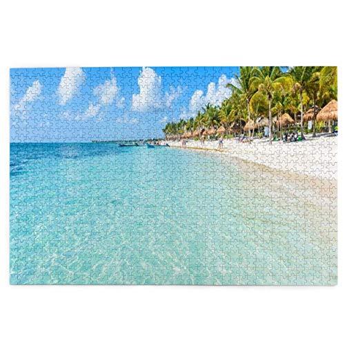 Riviera Maya Paradise Beaches Quintana Roo México Caribbean 1000 piezas rompecabezas para adultos, rompecabezas de 1000 piezas para adultos