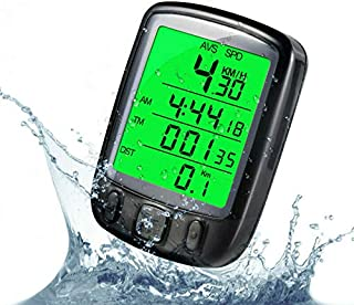 Bike Computer Cycling Speedometer Bicycle Odometer Waterproof LCD Backlight Cycling Computer Suitable or Outdoor Cycling S...