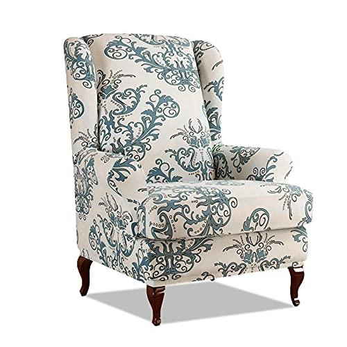 VanderHOME Fundas de sillón con Orejas Fundas de sillón reclinable Relax Fundas de Silla elástica con Cojin Separado Protector de Muebles Sofá de 1 Plaza Funda Cojín Independiente Beige