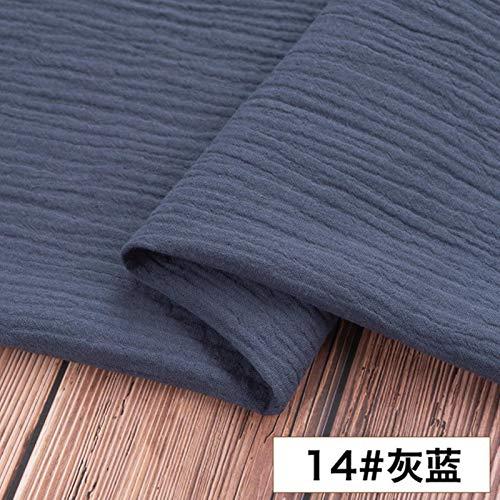 xuwei Tela de Lino de Doble algodón Vestido de Tela de bebé Suave Bambú Crepe Ropa DIY Material de artesanía de Costura 130 * 50cm