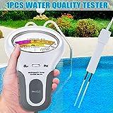 Haloku Digitaler Wasserqualitätstester, tragbar, pH-Wasser-Messgerät, Analyse, Chlor-Schwimmbecken