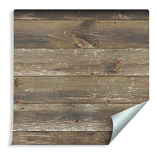 Muralo 219101977 - Papel pintado con láminas de madera horizontales de vinilo estilo escandinavo