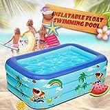 NBHUYT 150 Kinderbecken Badebecken Baby nach Hause aufblasbarer Platz Swimmingpool Kinder aufblasbarer Swimmingpool