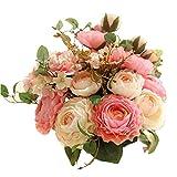 KIRIFLY Fleur Artificiel,Fleurs Artificielles Decoration Mariage Fausse Roses Bouquet...
