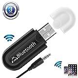 Mini USB Récepteur Bluetooth et 3.5mm Jack [Sortie Audio Double] Récepteur Audio A2dp Music Stream Dongle pour Voiture PC TV...