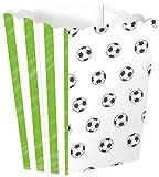 4 Popcorn-Schalen * FUSSBALL-STADION * für WM 2018-Party oder Kindergeburtstag // EM Party Mottoparty Geburtstag Soccer Teller Pappteller Partyteller