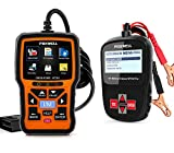 FOXWELL NT301 OBD2 Scanner Professional OBDII Diagnostic Code Reader with FOXWELL BT100 Car Battery Tester