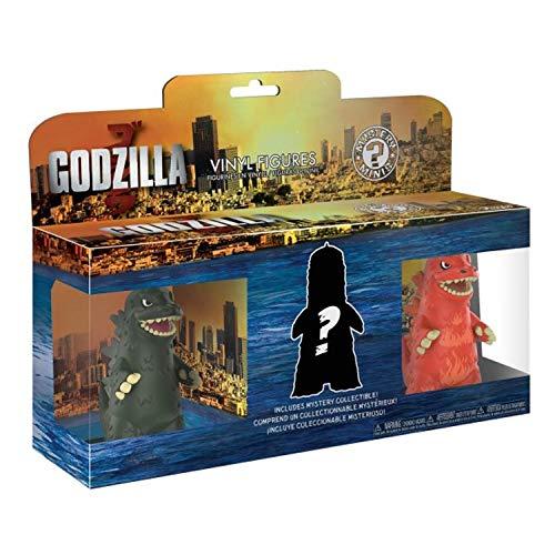 Funko Godzilla 3 Pulgadas Mystery Minis 23361 Paquete de 3 | Vinilo Godzilla Pack de 3 con Rojo, Verde y Misterioso Variant Color!