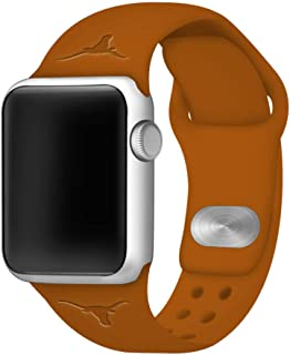 Affinity Bands Texas at Austin Longhorns Debossed Silicone Band Compatible with The Apple Watch - 42mm/44mm