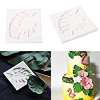 Cake Mold Baking Mould Safety Silicone Leaf Pattern Biscuits Bake ware Fondant Cake Decorating Tools Sugar craft Moule Silicone