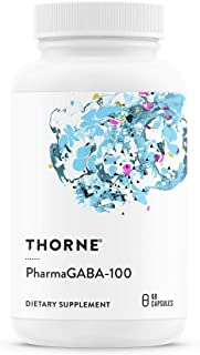 Thorne Research - PharmaGABA-100 - Natural Source GABA (Gamma-Aminobutyric Acid) Supplement - Promotes a Calm, Relaxed, Focused State of Mind - 60 Capsules