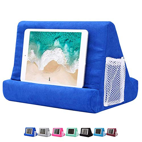 FW ZONE Tablet Pillow Holder Pad Stand Foam Book Rest Reading Stand (Blue)