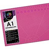 OfficeTree Base de Corte A1 Morado - Tabla de Corte Patchwork 90x60 cm - Alfombrilla de Corte A1 - para Patchwork Costura y Manualidades