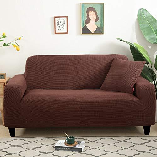 Funda de sofá de Gamuza Gris para Sala de Estar combinación de Madera Maciza Funda de sofá elástica sofá Toalla Funda de sillón decoración del hogar A12 3 plazas