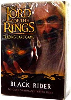Lord of the Rings Card Game Theme Starter Deck Black Rider Saruman Deck