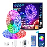 Cozylady Alexa LED Strip Lights 65.6FT, Smart LED Light Strips Compatible with Alexa, Google Home Controlled by APP - Music Sync LED Lights Strip for Bedroom Decor, Room Decor, Children's Room