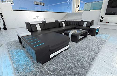 Sofa Dreams Design Wohnlandschaft Bellagio in U Form mit Kopfstützen