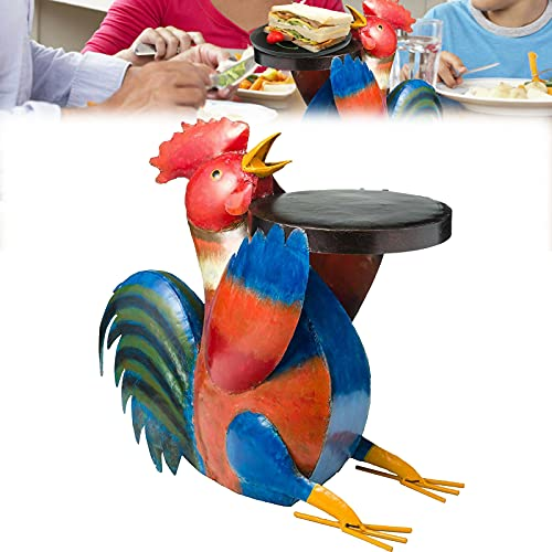 Colorful Folk Art Patio Table Furniture Resin Statues Table Sculptures Craft, Colorful Folk Art Pig Patio Side Table, Animal Patio Side Table, Simulation, Pig/Chickens/Cattle/Dog, 6in High