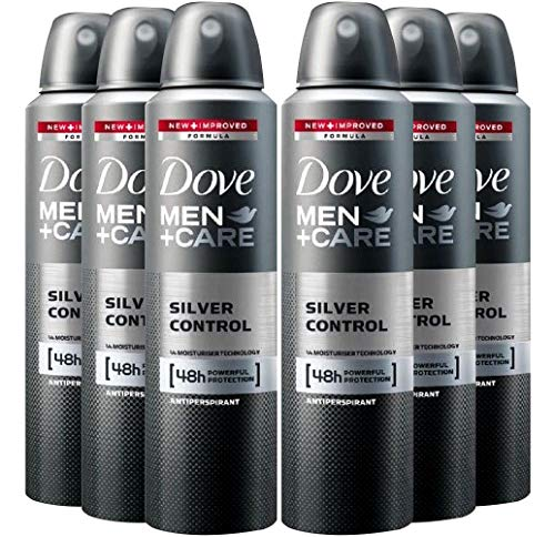 6 Pack Dove Men+Care Deodorant Silver Control Spray 48 Hr. Protection 150 ML