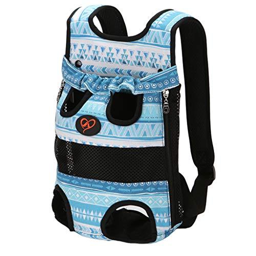 WanYanng Rucksack für Haustier,Atmungsaktiv Hunderucksack für Kleine Leichter Wanderrucksack Faltbare Dog Carrier für Spaziergänge, Geeignet für Metro Outdoor 2# Blau hat den Standard 30 * 20 cm